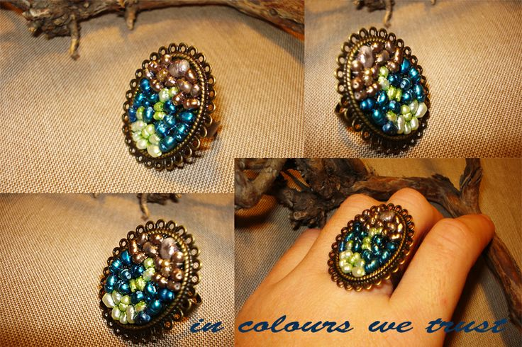 ring with extra mini natural pearls :)