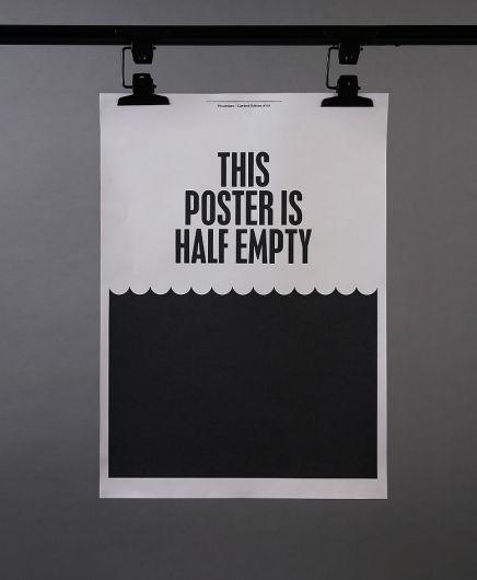 Pessimist Designer: White Spaces, Picture-Black Posters, Posterdesign, Graphicdesign, Posters Design, Graphics Design, Half Empty, Half Full, Bullets
