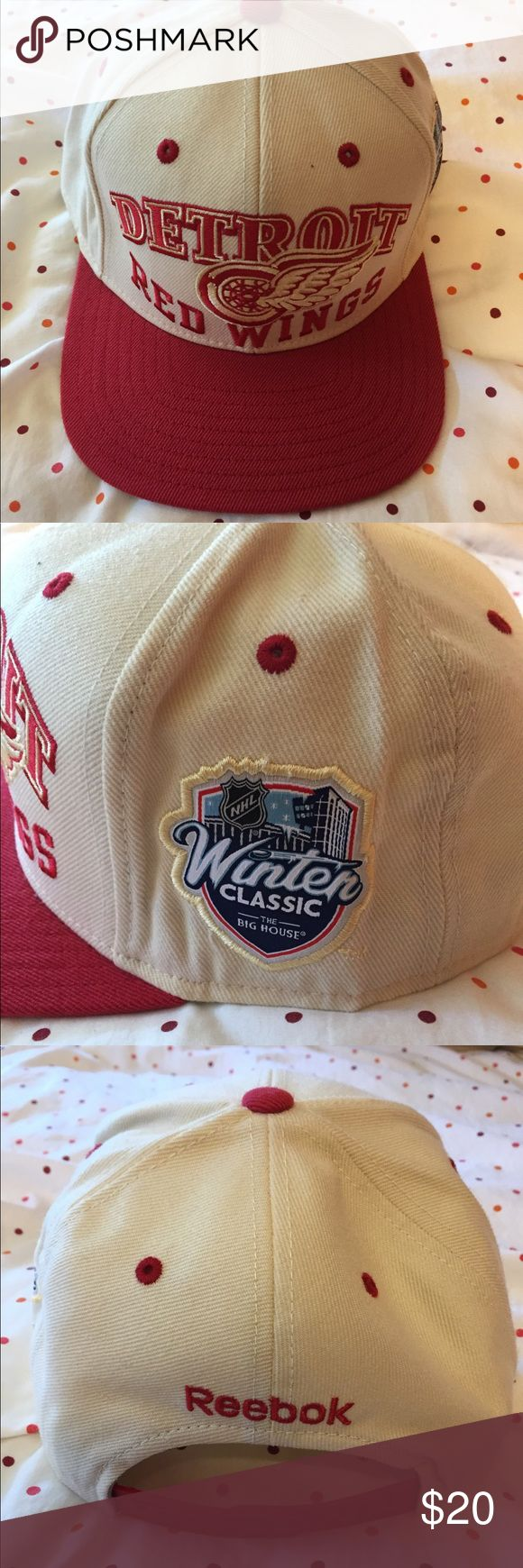 Detroit Red Wings Reebok Winter Classic snapback Selling this Detroit Red Wings retro NHL Reebok Winter Classic snapback. Reebok Accessories Hats