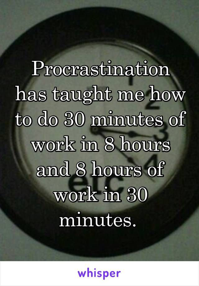 essay procrastination funny Structured procrastination: when all else fails i want to reflect on his essay, structured procrastination he's funny too) 5.