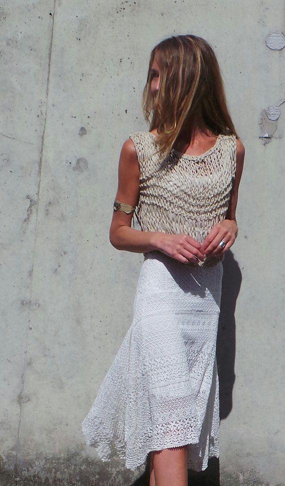 zugeschnittenen Pullover Leinen Pullover lose zugeschnitten stricken, Coachella Festival Sommer Pullover, Damen Weste, Damen tank