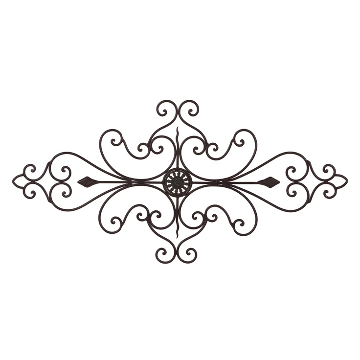 Long Iron Wall Decor : Tuscan wrought iron metal  scroll wall grille cheap