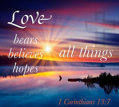 1 Corinthians 13:7 is a popular Bible verse in the New Testament where Paul is describing the actions of love. Study this Bible verse and Commentary to better comprehend the depth of what God has done for you through Jesus Christ.