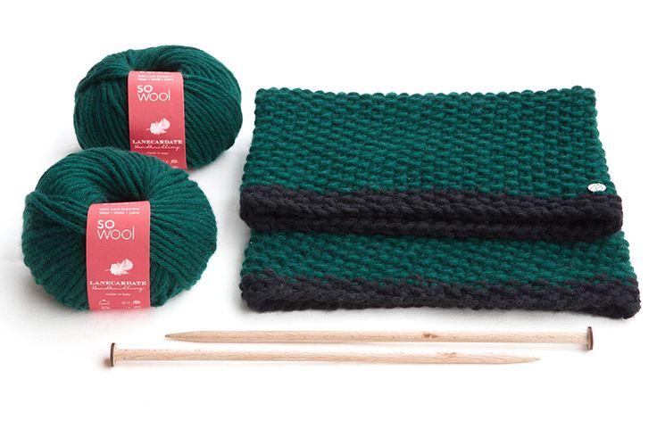 Gomitoli di So Wool con campione, Lanecardate Handknitting