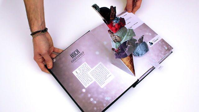 Livro com elementos interativos,   do designer gráfico alemão: Ruben Scupin.