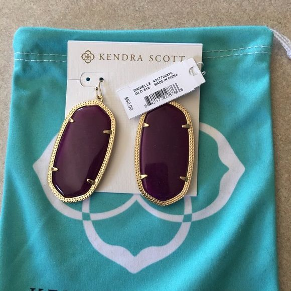 Kendra Scott earrings NWT Kendra Scott earrings. Received for Christmas and never worn. Purple style Danielle. Kendra Scott Jewelry Earrings