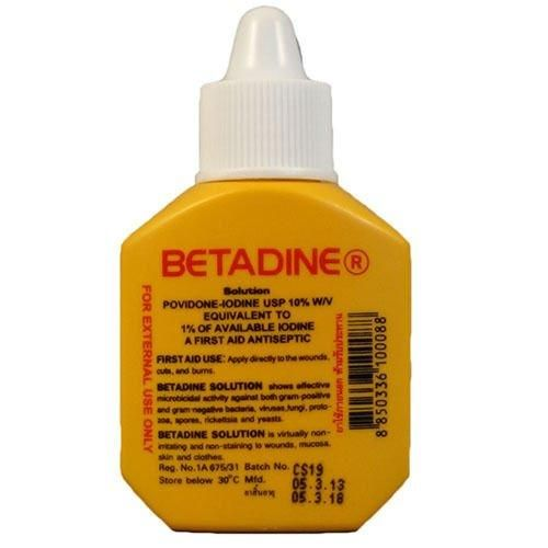 6 pcs Betadine Povidone Iodine First Aid Solution Antiseptic for Cuts Wounds 15cc