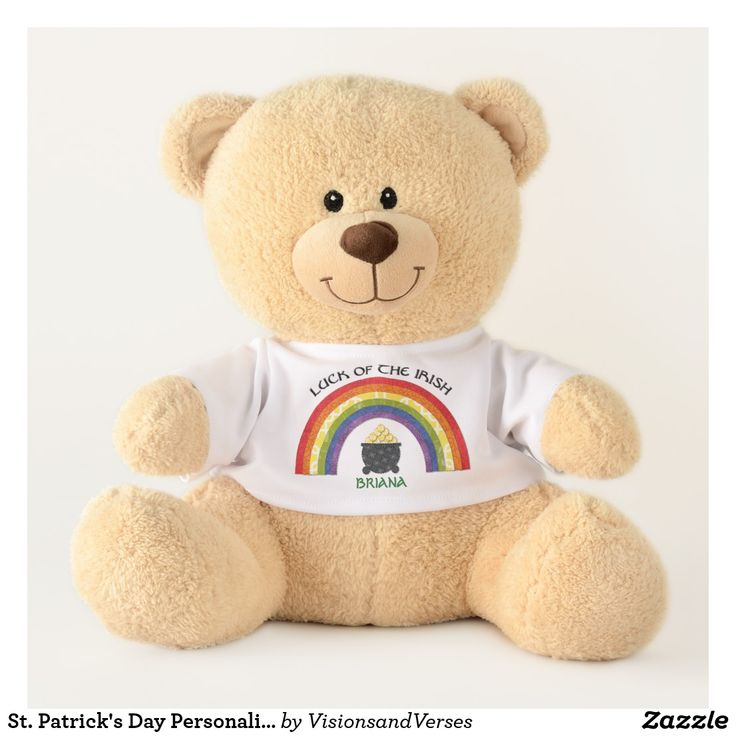 St. Patrick's Day Personalized Teddy Bear #stpatricksday #stpaddysday #stpatricks #stpatricksgift #stpatrickstoy #stpatricksteddybear
