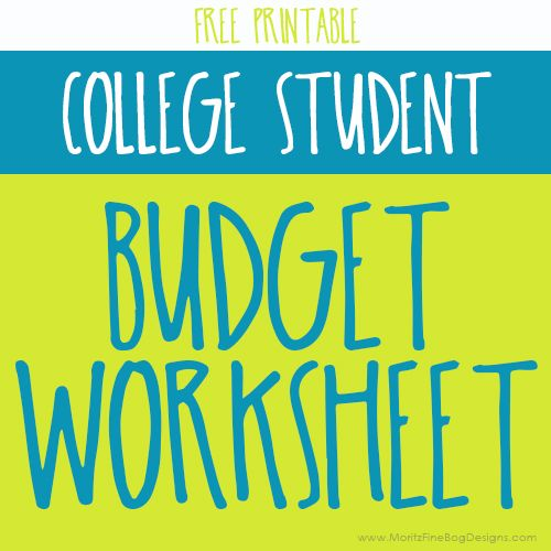Printables Budgeting Worksheets For College Students 1000 ideas about college student budget on pinterest worksheet moritz fine designs