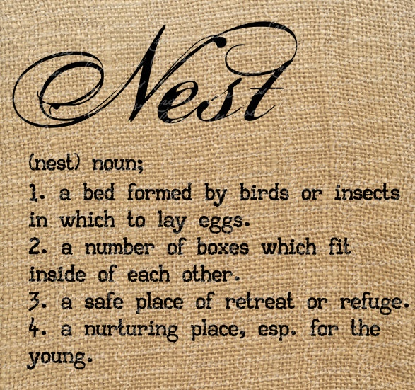 Nest Definition Typography | Domicile | Pinterest