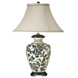 Ebony Table Lamp  The Base U0026 Shade Are Both Well Proportioned. The Ginger  Jar Shape Is Versatile U0026 Classic.