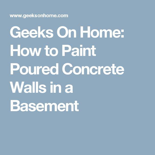 Best 25+ Painting concrete walls ideas on Pinterest ...