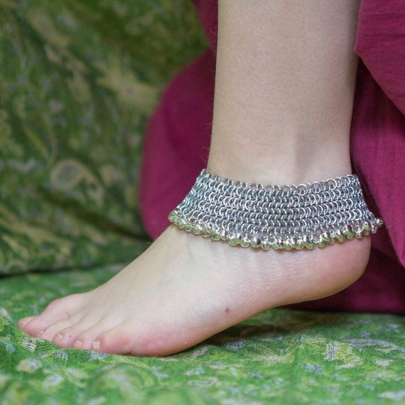 Paizeb II  Indian anklet by DreamHandmadee on Etsy