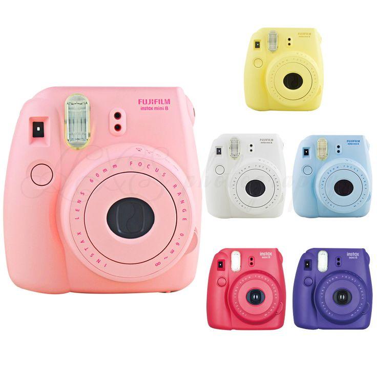 Asli fuji fujifilm instax mini 8 kamera film foto instan pink cepat gratis pengiriman