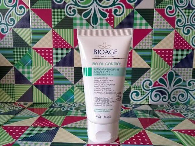 Bio Oil Control Mascara Esfoliante Facial 5 Em 1 Bioage