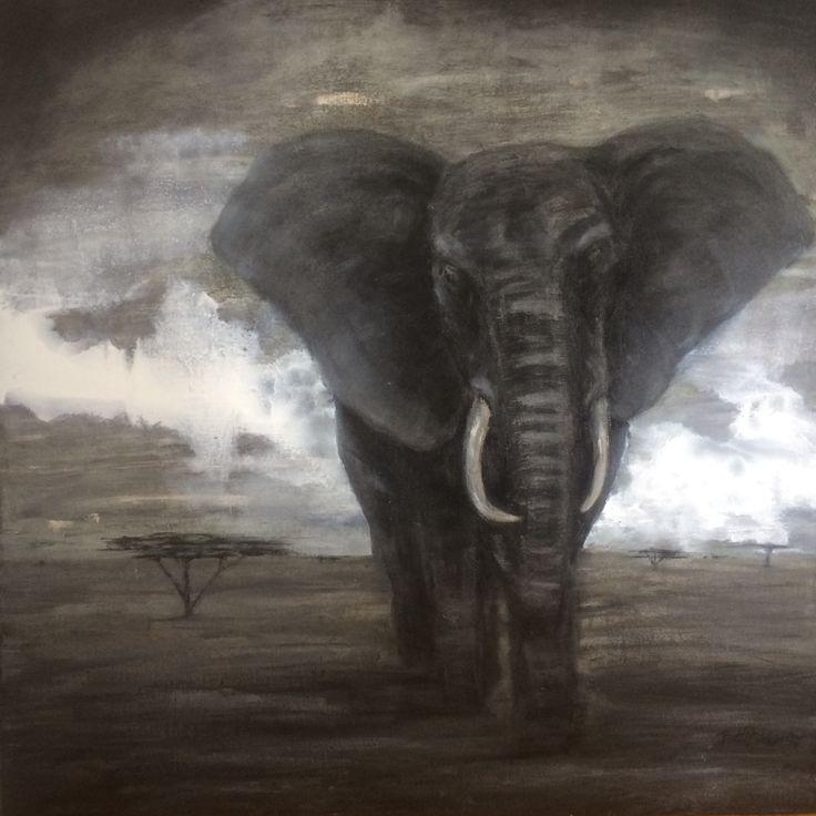 Elephant. 2017. 100x80 cm. #oilpainting