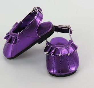 Dress shoes purple metalic ruffle shoes.