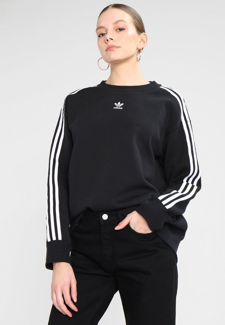Sala recepción Autorización  ADICOLOR CREW - Sweater - black @ Zalando.be 🛒 Check more at  https://outfits.sirinhali.net... | Ropa adidas, Ropa urbana para mujer, Ropa  deportiva mujer
