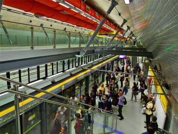 Subway Station on Yellow Line
