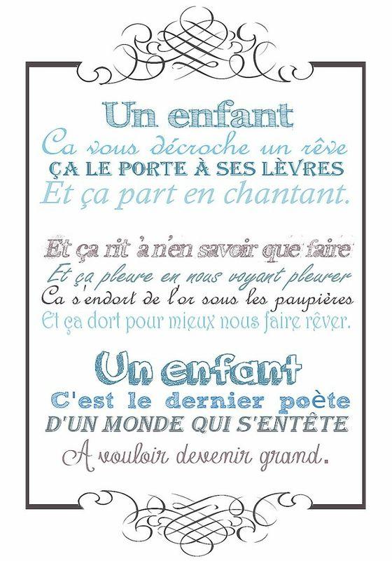 """Jacques Brel (1929-1978) - Paroles de sa magnifique et tendre chanson """"Un enfant"""" ..."""