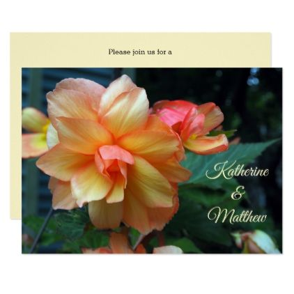 Begonia Wedding Invitation - invitations personalize custom special event invitation idea style party card cards