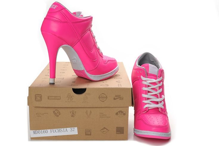 heels   ... Dunk SB High Heels Pink White Nike Jordan High Heels for women sale