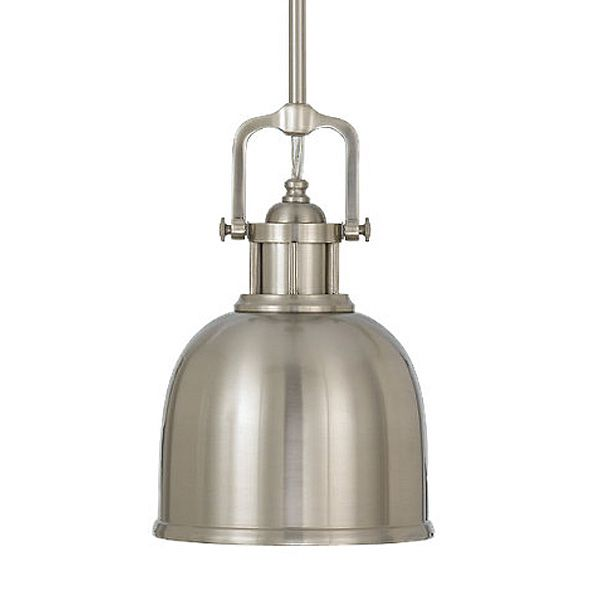 The Refined Classic Suspended Pendant, Brushed Steel