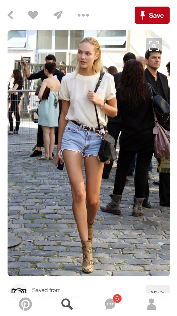 #Snakeskin #booties with cut off #shorts and #western #belt