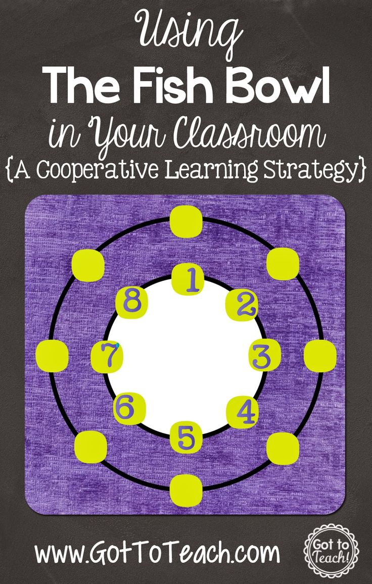 Collaborative Learning Classroom Activities : The fish bowl a cooperative learning strategy post of