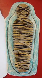 Sarcophagi & Mummies - love the yarn wrapped mummy on the inside!