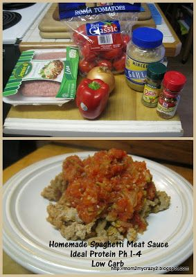 Running away? I'll help you pack.: Homemade Spaghetti Meat Sauce (Ideal Protein Recipe Ph 1-4)