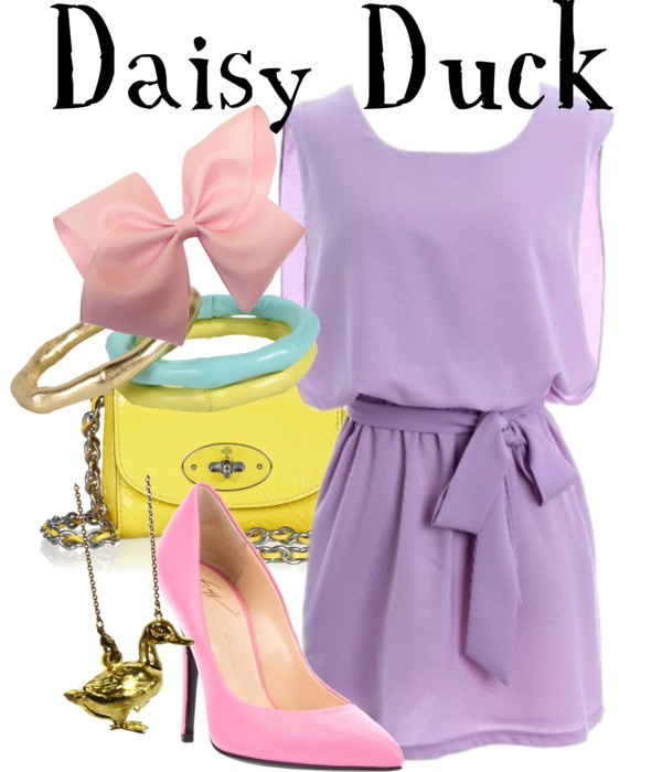 """Daisy Duck"" by lauren-claire-bacher ❤ liked on Polyvore"