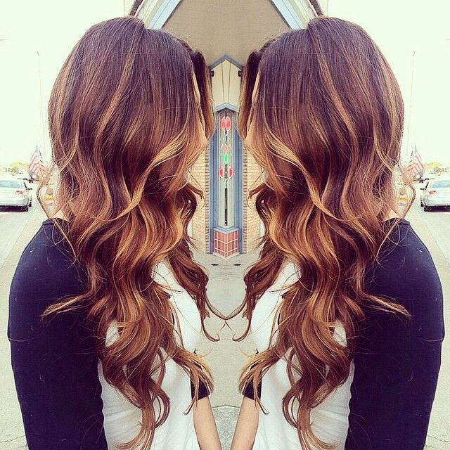 Gorgeous brown hair with highlights @caynoel this color?