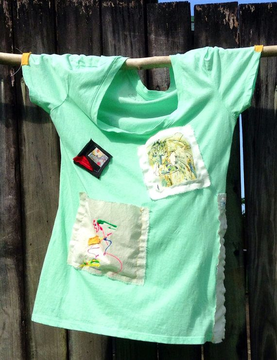 hand decorated tee top size 8 cotton on Etsy, $39.00 AUD