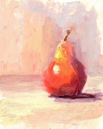 Abstract Original Art, Oil Painting Fruit Still Life, 8'x10' by Mark Haglund
