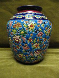 Vase Emaux De Longwy Longwy Pottery Pinterest Pottery