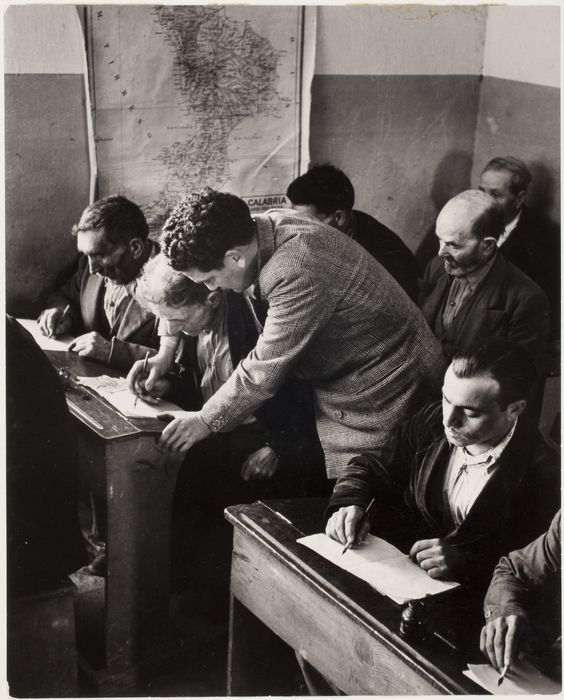 School for adults, Rogiano Gravina, Calabria, Italy 1950