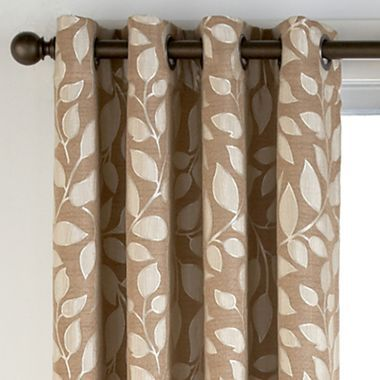 Leaf Prints Curtain Panels And Leaves On Pinterest