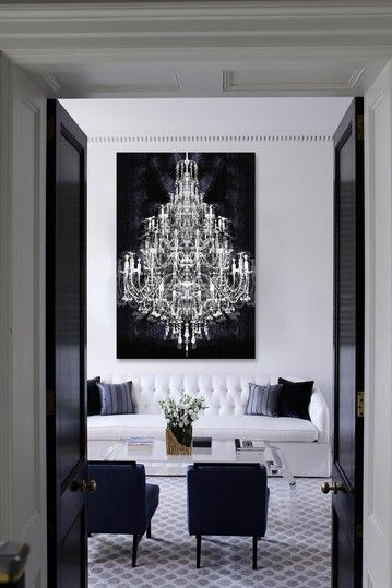 can't afford the chandelier? buy the picture! Oliver Gal Montecarlo Crystal Canvas Art by Oliver Gal Gallery on @HauteLook
