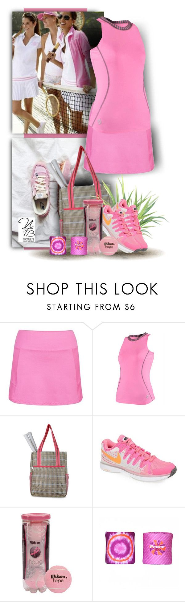 """""""More Pink Tennis Styles for you - Nicole's Tennis Boutique"""" by nicolestennisboutique ❤ liked on Polyvore featuring Jofit and NIKE"""