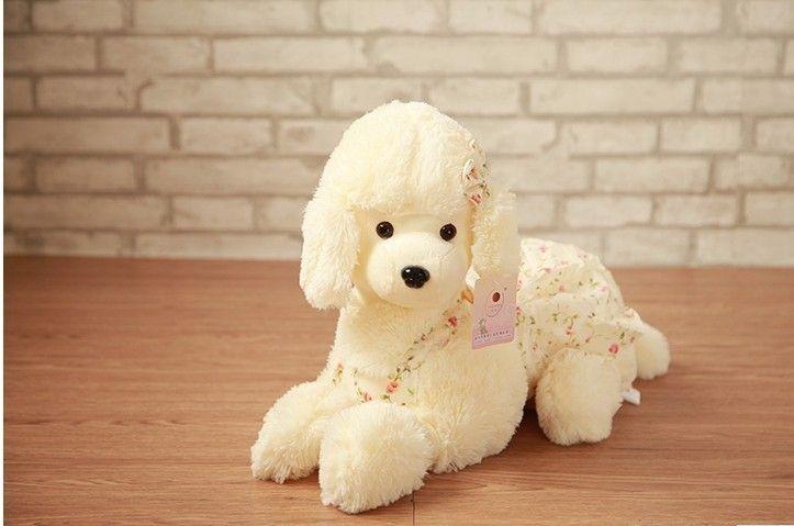 Плюшевые собаки кукла пудель плюшевые игрушки цветок ткань собака кукла милый подарок на день рождения о 35 см