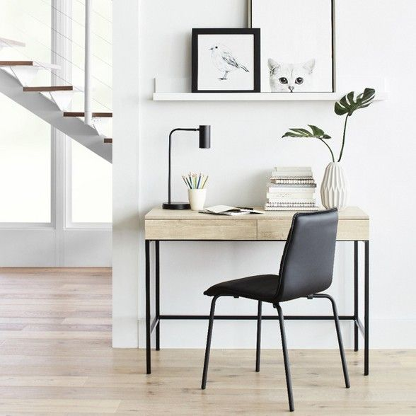 Loring Wood Writing Desk With Drawers Project 62 Modern Home Office Furniture Writing Desk With Drawers Wood Writing Desk