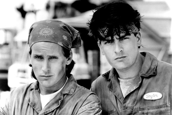 Emilio Estevez Charlie Sheen Men at Work #50ThingsMillenialsHaveNeverHeardOf