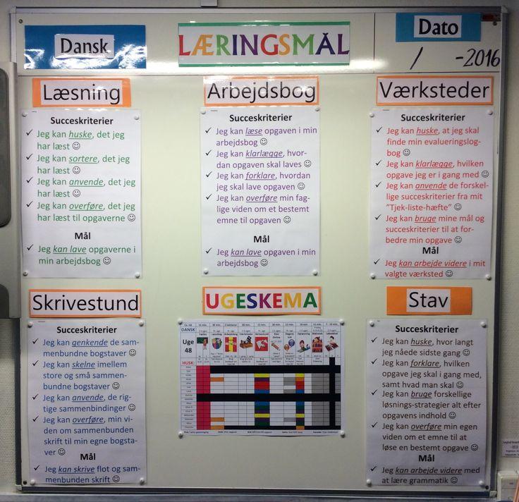 Så er 4. Kl klar til at tage hul på ugeskema sammen med læringsmål for de enkelte aktiviteter....