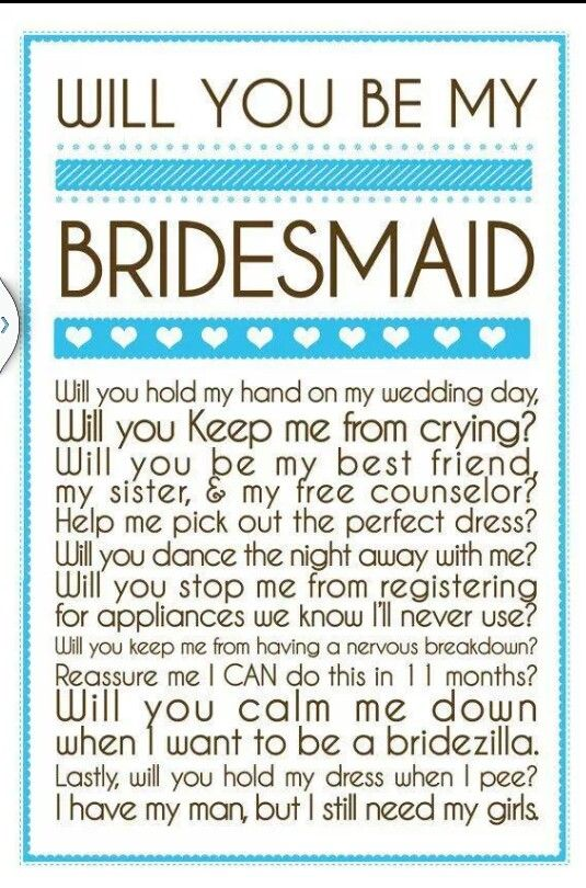 For my bridesmaids... love it!