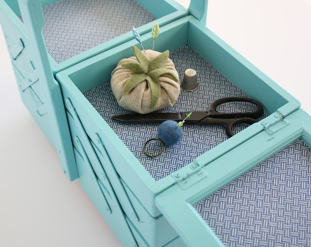 Vintage Sewing box. I just scored one of these! Needs a paint though :)