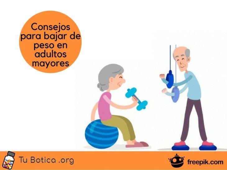 ¿Cómo hacer una dieta para bajar de peso en adultos mayores?