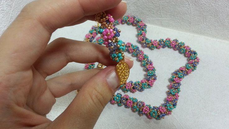 """Комплект украшений """"Полянка"""" /A set of jewelry """"Glade"""""""