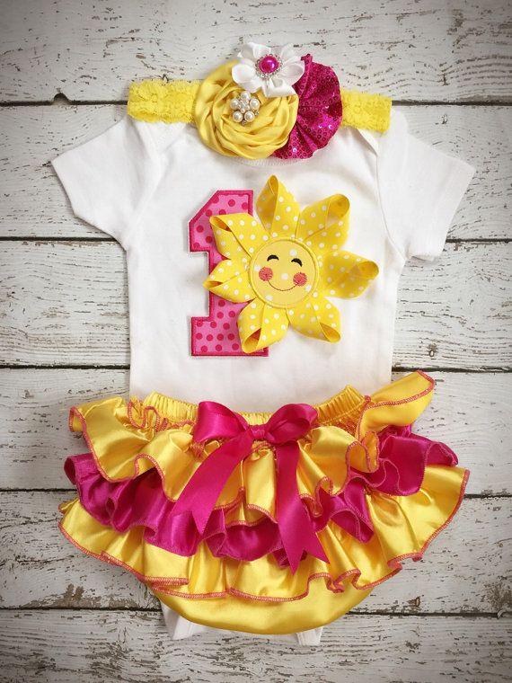 Little Sunshine Birthday/You are my Sunshine/First by BabyTrendzz