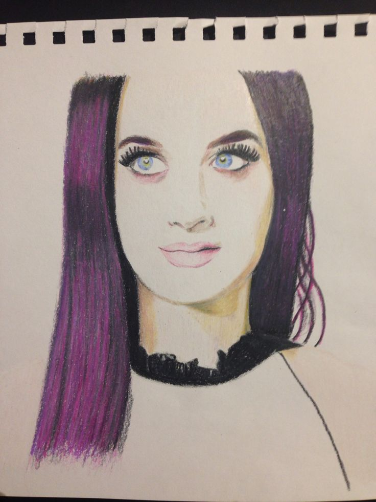 My drawing of Katy Perry